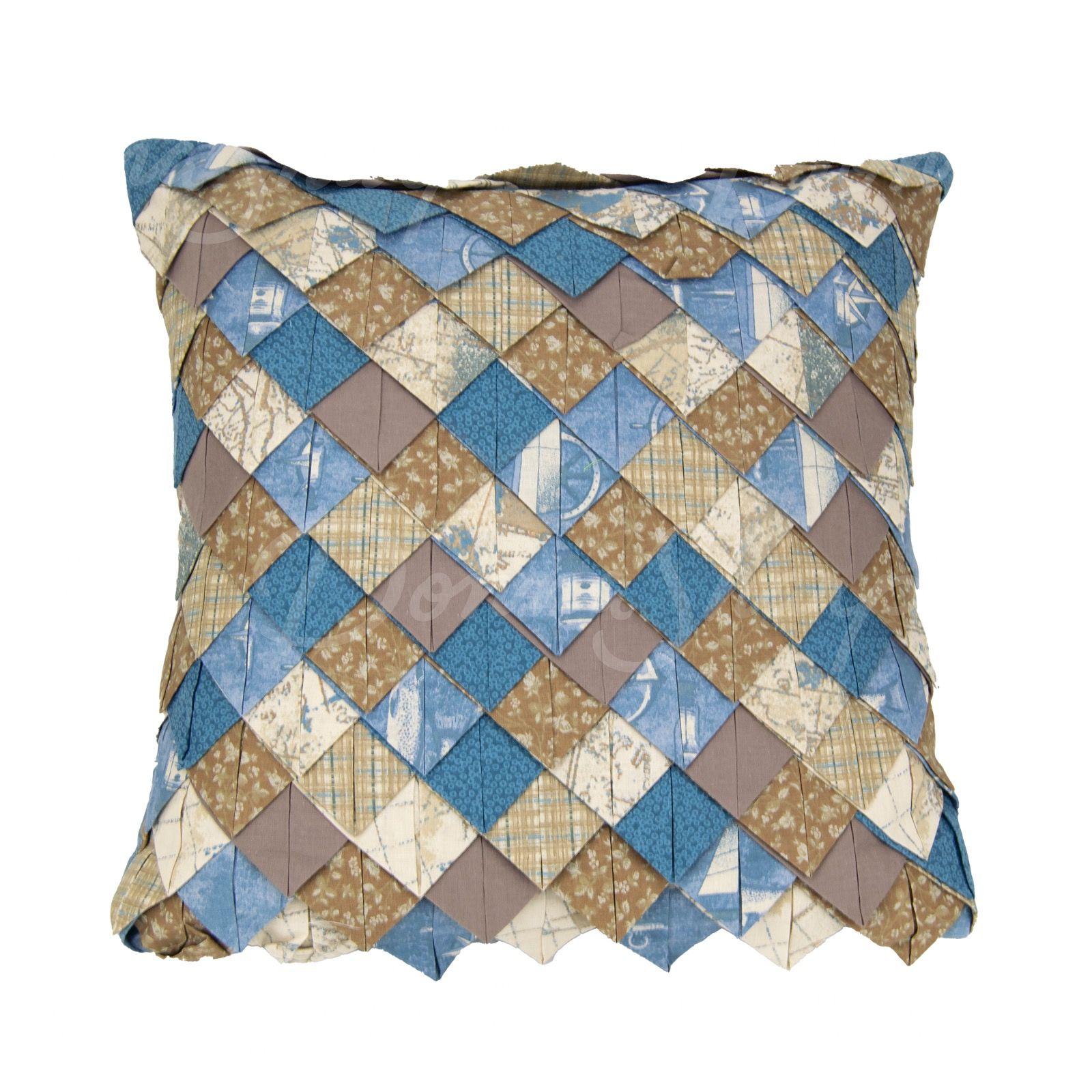 Roof Tile Nautical Square Decorative Pillow