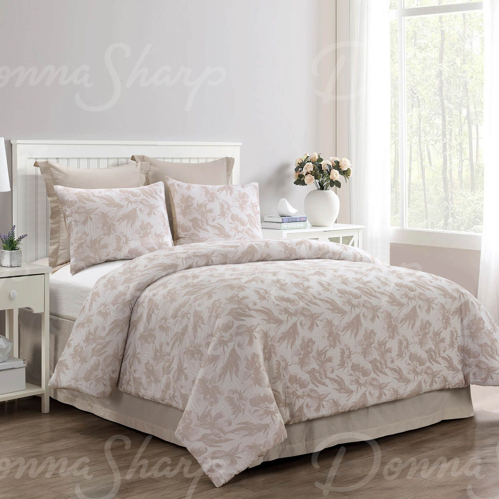King Comforter Set Almaria Blush