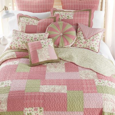 Bashful Rose Quilted Bedding Collection