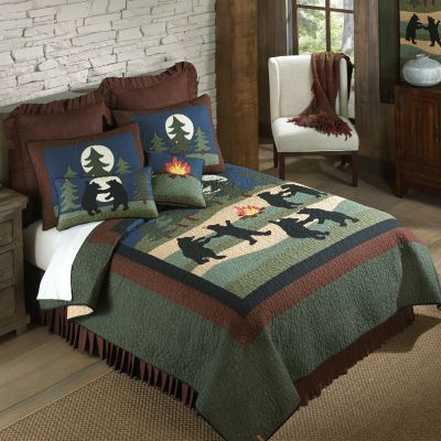 Bear Dance Quilted Bedding Collection