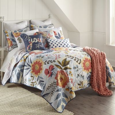 Donna Sharp Coral Crush Quilted Bedding Set