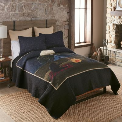 Bear Campfire - Quilted Bedding Collection